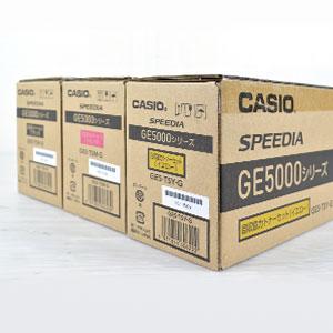 カシオ(CASIO)製品 製造年月日の記載がシールタイプとなっております。シールの場合は側面に貼っている事が多いです。
